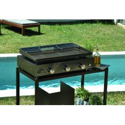 Plancha-Grill 3 Brenner mit emaillierter Stahlplatte
