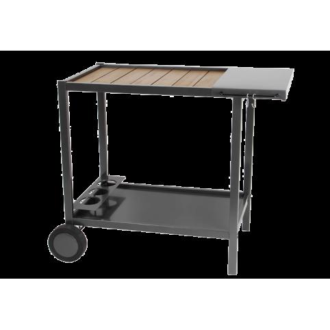 Servier- & Grillwagen, Metall & Holz ☀ Verycook